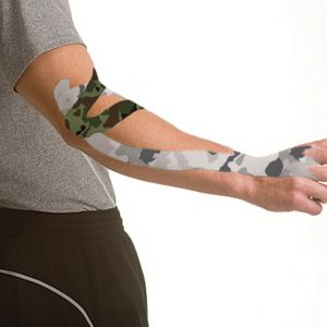 Mueller Kinesiology Tape I-Strip Roll Gray Camo