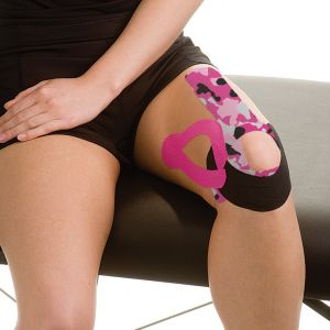 Mueller Kinesiology Tape I-Strip Roll Pink Camo