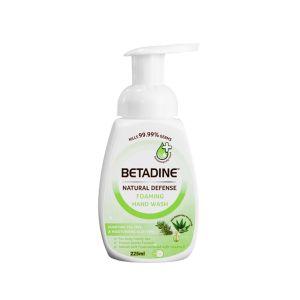Betadine Natural Defense Foaming Hand Wash Purifying Tea Tree & Moisturizing Aloe Vera 225ml