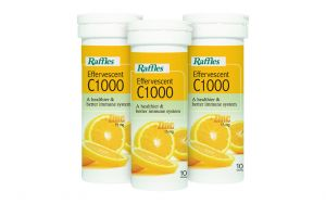 Raffles Effervescent C1000 + Zinc 15mg Bundle (3 Tubes, 10 Tablets each)