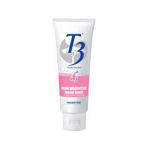 T3 Acne Whitening Facial Foam Cleanser 100g